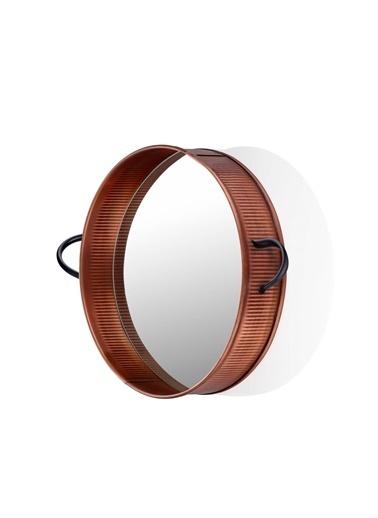The Mia Bakır Kaplama Ayna 42 Cm Bakır